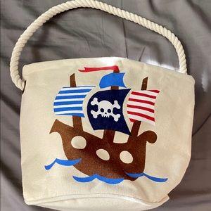 mud pie canvas pirate bag.